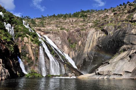 La cascada de Ézaro, la única de Europa que cae directamente al mar.   Soledad Felloza