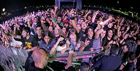 Alrededor de 14.000 personas acudieron al Monte do Gozo el primer día. | Efe