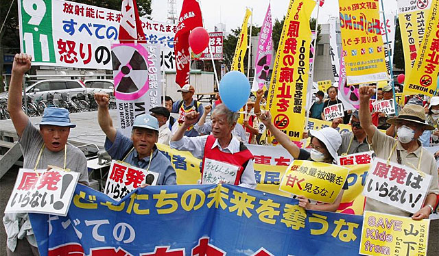 Protestas en Japón contra la energía nuclear. | Efe