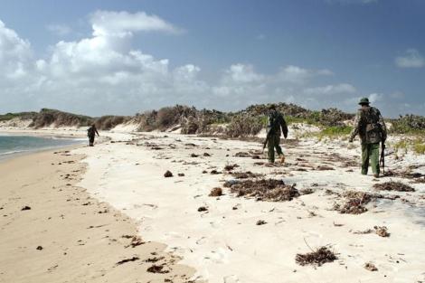 Las autoridades de Kenia buscan a la desaparecida en la costa. | Afp