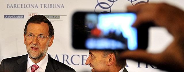 El líder del PP, Mariano Rajoy, en el almuerzo organizado por Barcelona Tribuna. | Santi Cogolludo