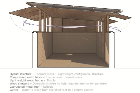Boceto del diseño '300 Hybrid House' de Joseph Sandy. | ELMUNDO.es