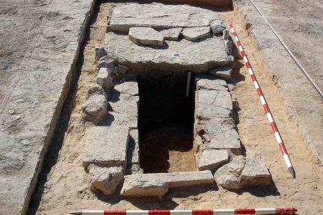 Una de las tumbas romanas que se han encontrado.| ELMUNDO.es