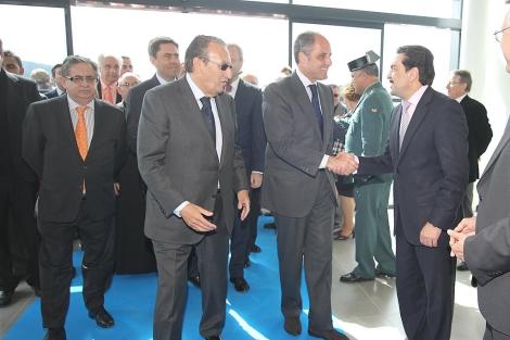 García-Salas, Carlos Fabra y Camps el día de la inauguración del aeropuerto   E. Torres