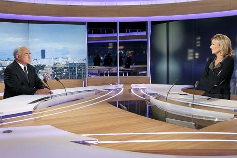 Strauss-Kahn, ante las cámaras. | Ap
