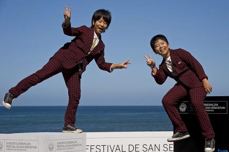 Kaki y Oshiro Maeda, los protagonistas de 'Kiseki'. | AP