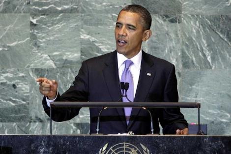 Obama, en un momento de su discurso en la Asamblea General.| Ap