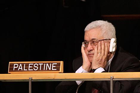 Abu Mazen, en un momento del discurso de Obama.| Ap