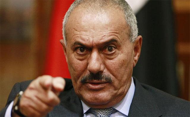 El presidente Saleh durante una comparecencia en mayo. | Reuters