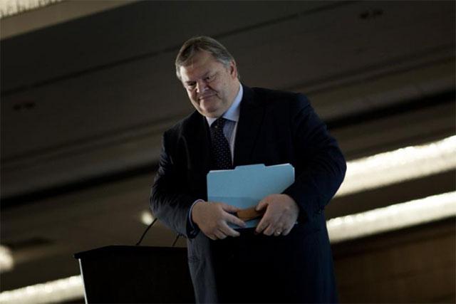 El ministro de Finanzas griego tras una reunión internacional en Washington. | AFP