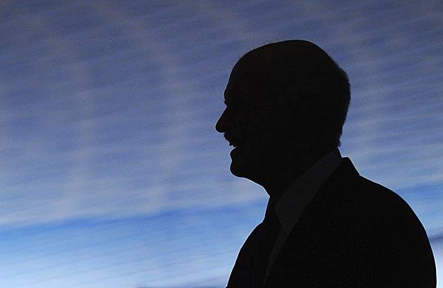 El primer ministro griego, Yorgos Papandreu, durante su intervención ante la Confederación Industrial Alemana, en Berlín.   Efe