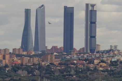 La 'boina' de contaminación que afecta a Madrid.   Gonzalo Arroyo