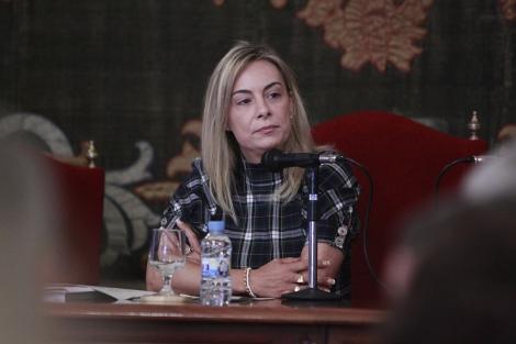 La alcaldesa de Alicante, Sonia Castedo, durante el pleno de este miércoles.   Ernesto Caparrós