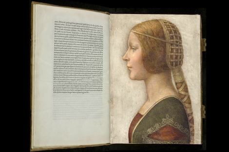 Retrato de Bianca, hijza de Ludovico Sforza, posible obra del pintor Leonardo da Vinci.
