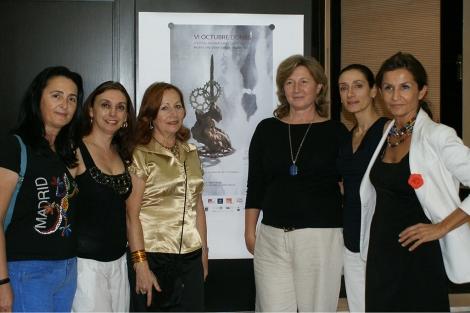 Henar del Paso, Ana A. Millás, Antonia Bueno, Giovanna Ribes, Rosana Pastor y Nuria Cidoncha.
