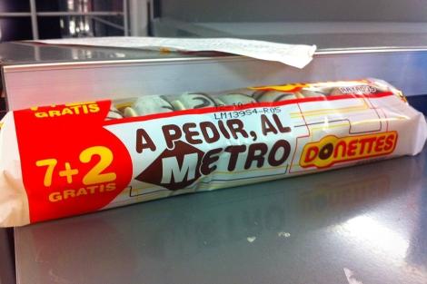 Imagen de los polémicos paquetes de Donettes publicada en Twitter. | Xavi Calvo