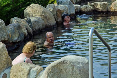 Las aguas superan los 63 grados centígrados de temperatura. | Román Nóvoa