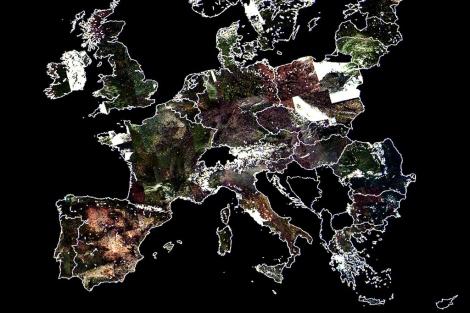 Imagen de Europa tomada desde el satélite. | Foto cedida por Elecnor Deimos