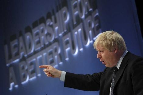 El alcalde de Londres, Boris Johnson, en la Conferencia de Manchester. | Reuters
