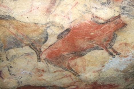 Pintura rupestre en el interior de la cueva de Altamira.  'Science'