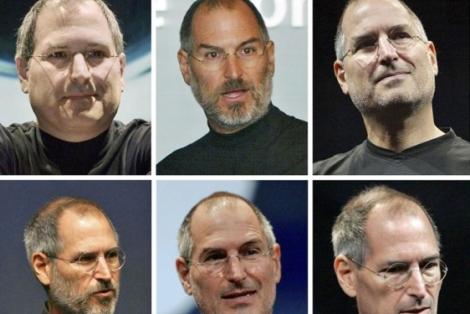 Steve Jobs, en diversos momentos entre 2000 y 2008.