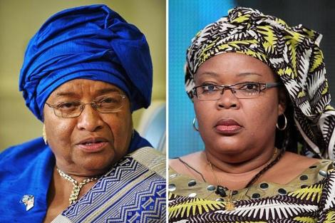 Ellen Johnson Sirleaf (izda.) y Leymah Gbowee. | Afp