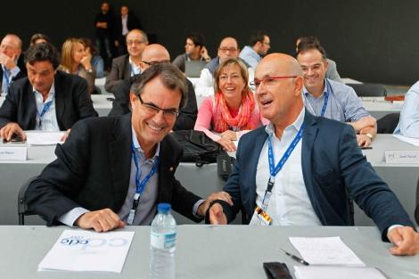 Josep Antoni Duran i Lleida (d), junto con el presidente de CiU, Artur Mas (i). | Efe
