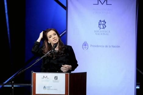 La presidenta de Argentina, durante el acto de inauguración.   Efe