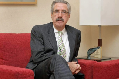 Santos González, presidente de la Asociación Hipotecaria Española (AHE). | A. M. Xoubanova
