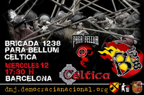 Detalle del cartel que anuncia el concierto neonazi en Sabadell.   ELMUNDO.es