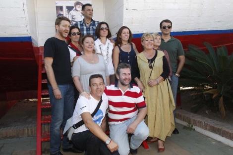 Los protagonistas de 'Verano azul' en Nerja. | A.Pastor