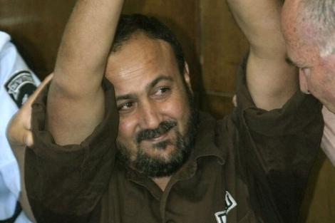 Imagen del ex líder de Al Fatah, Maruán Barguti, durante el juicio.   Efe