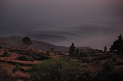 Manchas detectadas en la costa de la Restinga, en El Hierro . | Afp