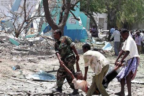 Imagen del atentado de Mogadiscio, este mismo mes. | Reuters