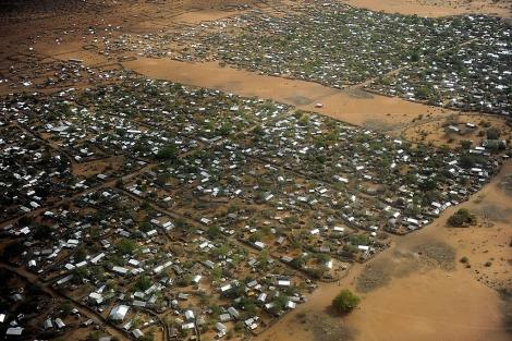 Vista aérea del campo de refugiados de Dadaab (Kenia). | Afp