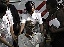 El conductor keniano, herido. | Reuters
