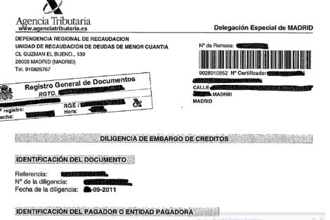 Carta remitida por la Agencia Tributaria a Julia [Pdf]. | ELMUNDO.es