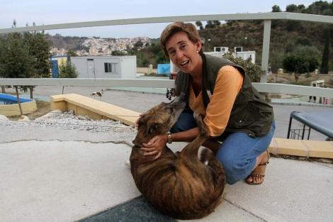 La presidenta de la Protectora de Animales, Carmen Manzano. | Carlos Díaz