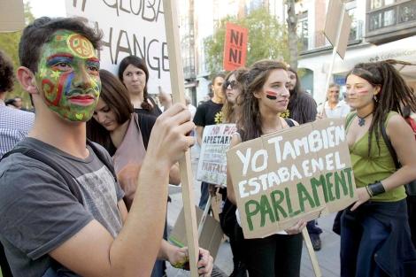 Manifestación del 15-O por las calles de Valladolid. | Ical