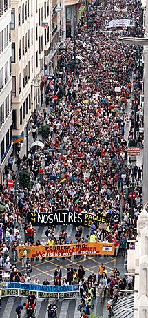Marcha en Valencia. | Efe
