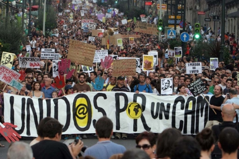 La manifestación de Vigo superó las 10.000 personas.   Rosa González