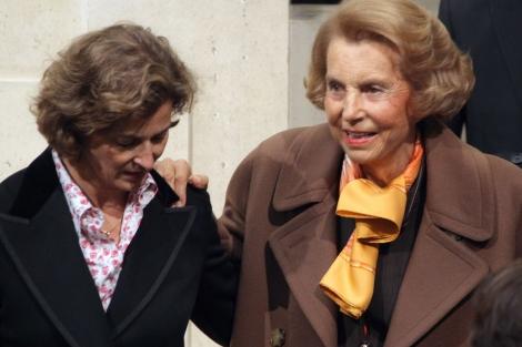 Liliane Bettencourt, a su llegada al Instituto francés de París.   Afp