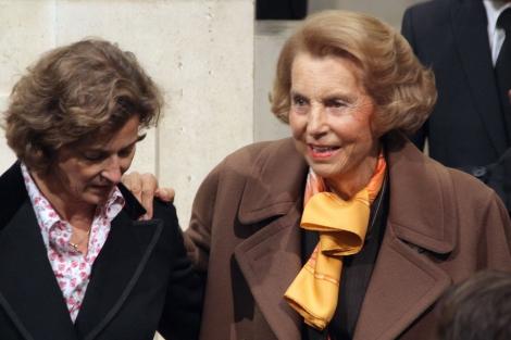 La dueña de L'O'réal, Liliane Bettencourt, en París.   Afp
