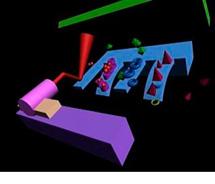 Esquema del funcionamiento de un biosensor nanomecánico. | M. Calleja.