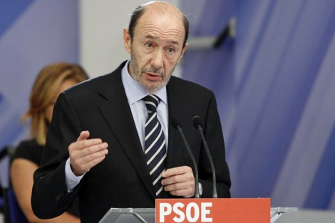 Alfredo Pérez Rubalcaba, candidato del PSOE a presidente del Gobierno. | Efe