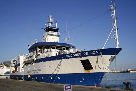 El buque oceanográfico Vizconde de Eza, en una campaña anterior.