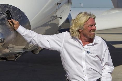 Richard Branson, el pasado lunes durante la inauguración de su aeropuerto espacial. | AP.