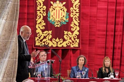 Juan Roig durante la entrega de los Premios Jaime I | Benito Pajares