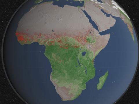Nasa Mapa De Incendios.Un Mapa De La Nasa Muestra Los Incendios Forestales De La