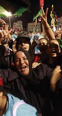 Fiesta en Trípoli. | Reuters